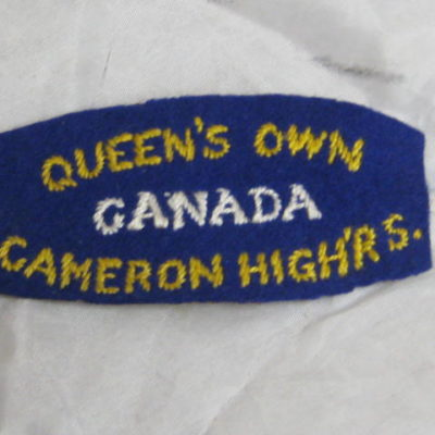 Queen's Own Cameron Highlanders, Canada