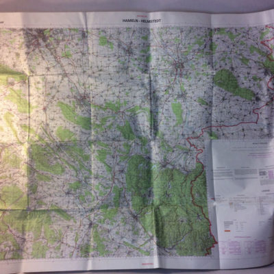 1:100000 universal transverse mercator projection - mod map 1978 Hameln/helmstedt & osnabruck/hildesheimHannover
