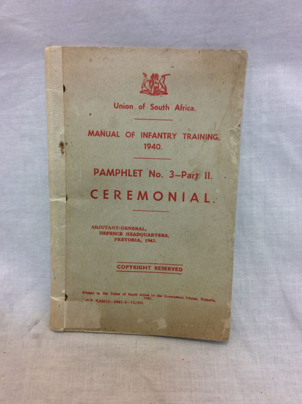 1940 South Africa Infantry Training Pamphlet no 3 part 3