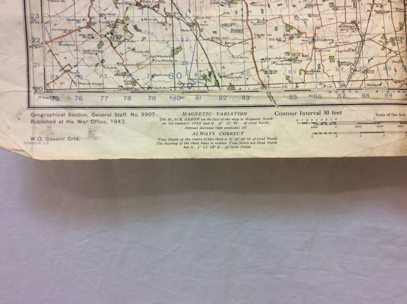 1942 War Office OS map of Middlesbrough & Hartlepool
