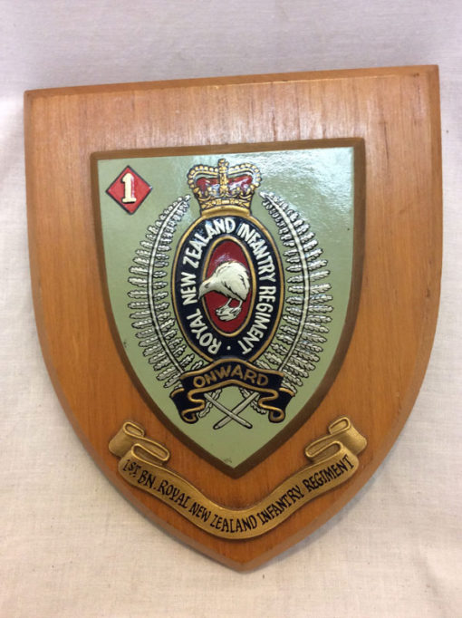 1st BN. Royal New Zealand Infantry Regiment plaque