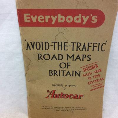 Autocar folding map 1956