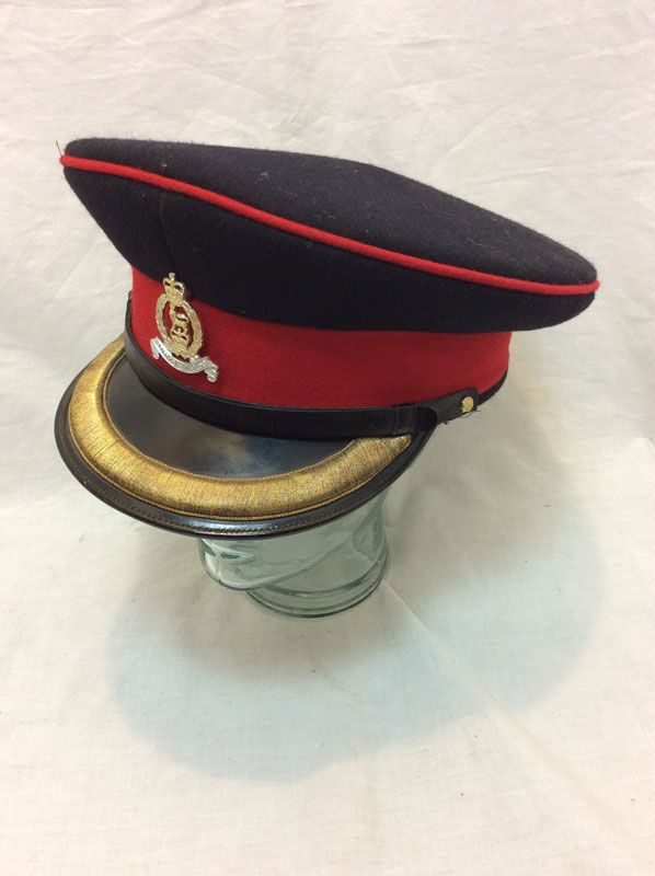 British Army Officer peaked cap with bullion braiding