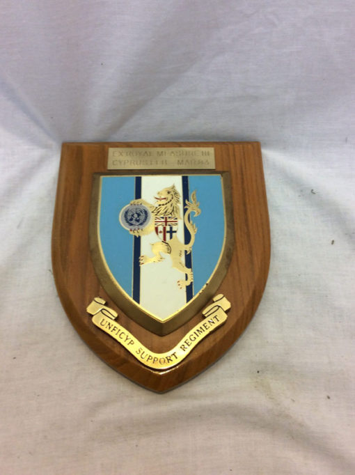 Ex.royal Measure III Cyprus, UNFICYP SUPPORT REGIMENT plaque