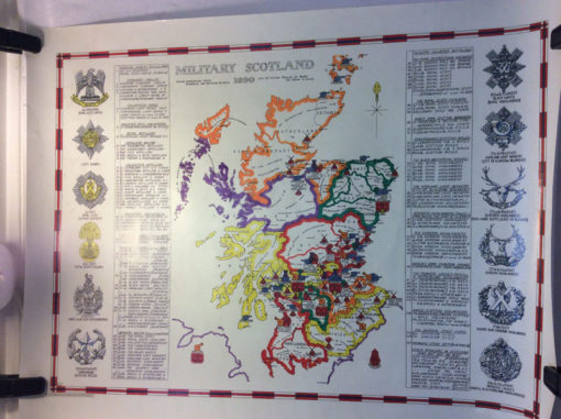 Historical Scottish Regiment map