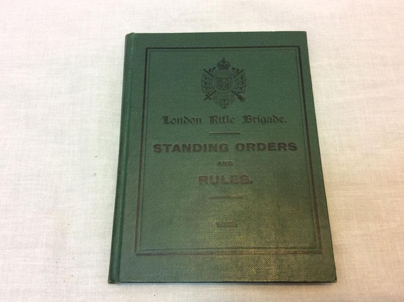 London rifle brigade standing orders and rules hardback book
