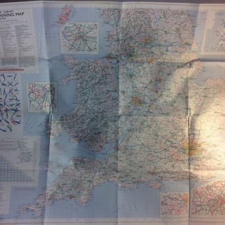 Map - Route planning map south MOD 1976