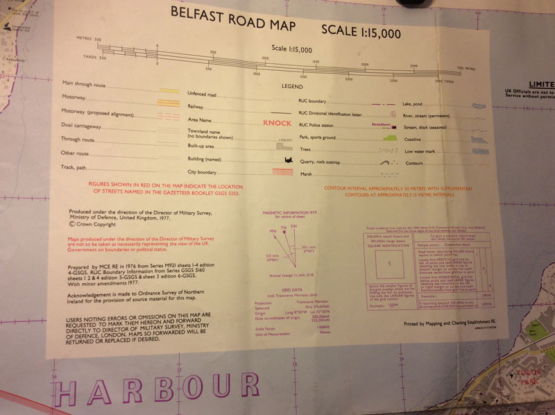 Military survey map of - Belfast Road map 1:15000