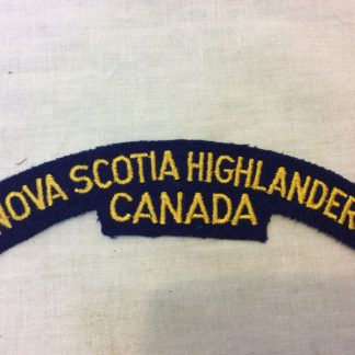 Nova Scotia Highlanders fabric patch badge shoulder title