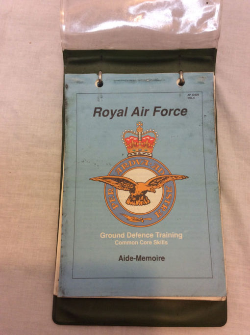 RAF Aide Memoire ground defence training skills