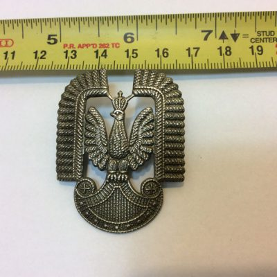 RAF Polish Airforce in Exile WW2 Eagle cap badge