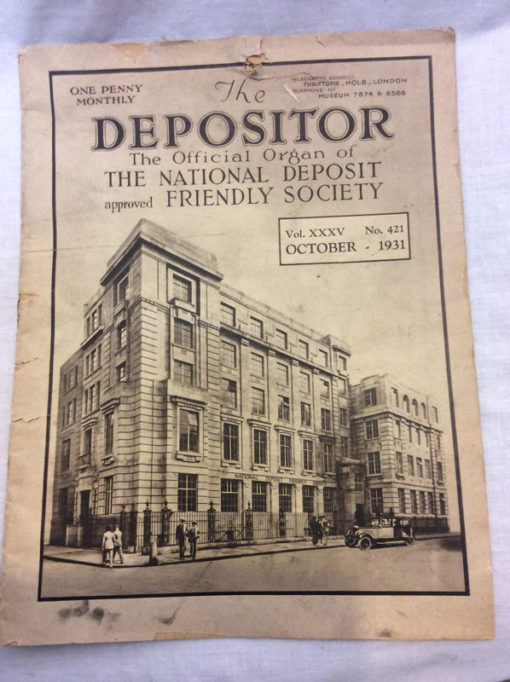 The Depositor, Magazine of The national Deposit Friendly Society, 1931