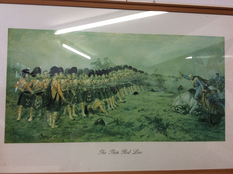 The Thin Red Line, Argyll & Sutherland Highlanders framed picture