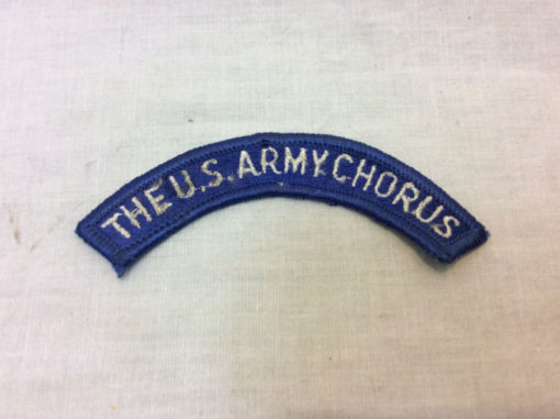 US army band, The U.S. Army Chorus, patch badge