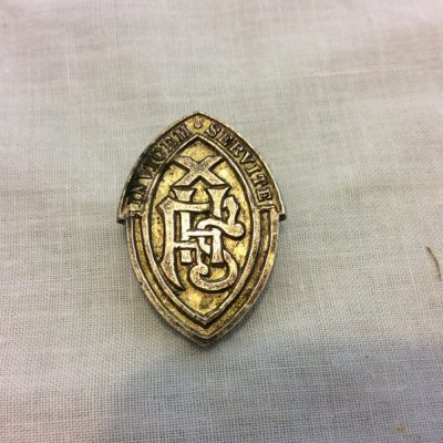 Vintage FALKIRK HIGH SCHOOL pin badge