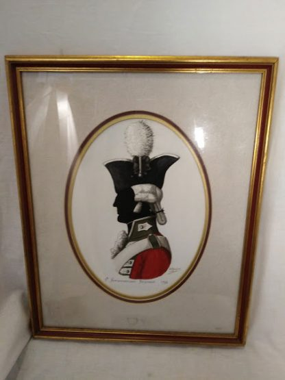 5th Northumberland Fusiliers framed drawing