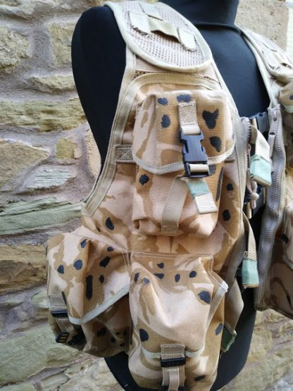 British Army issued Mans General purpose OPS waistcoat desert camo bespoke