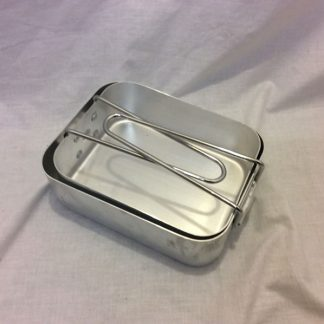 British Army military aluminium mess tins