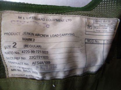 British RAF Aircrew Load carrying Jerkin