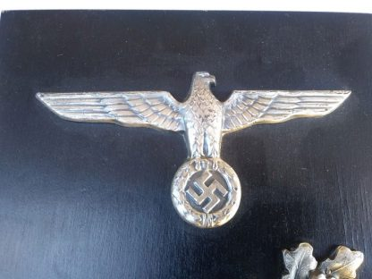 German 1941 dated named plaque Machine Gunner, Eagle and Wreath