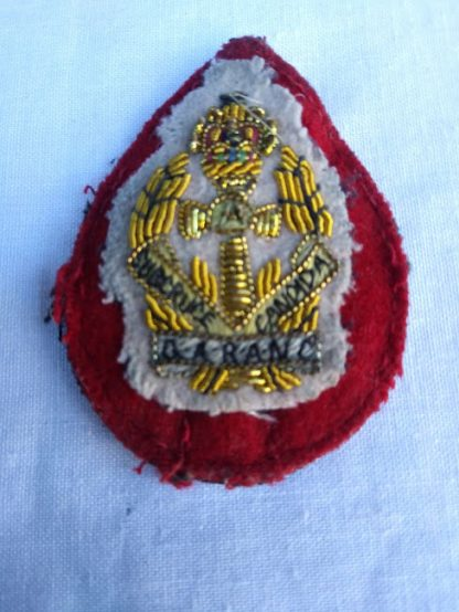 QARANC (Queen Alexandra Royal Army Nursing Corps) Officers Bullion Beret Fabric patch badge
