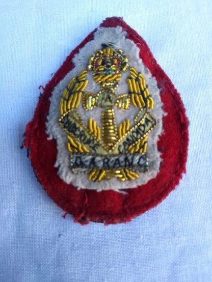 QARANC (Queen Alexandra Royal Army Nursing Corps) Officers Bullion Beret Fabric patch badge