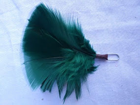 green regimental hackle