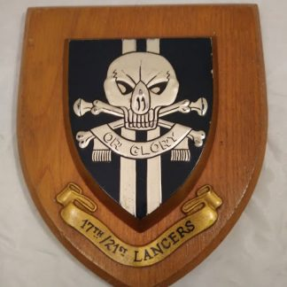 17th/21st Lancers Regimental Wall Mess Plaque