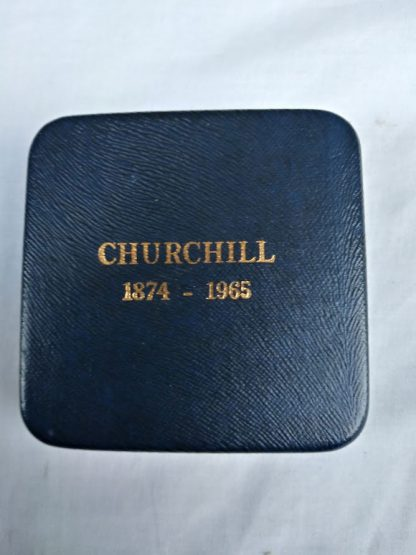 1965 Winston Churchill 57mm Silver Proof Medal in case