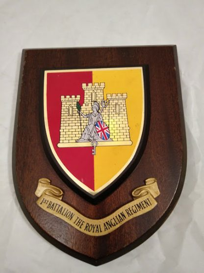 1st Battalion The Royal Anglian Regiment Mess Wall Plaque