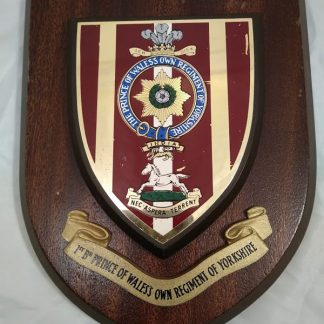 1st Bt Prince of Wales Own Regiment of Yorkshire Regimental Mess Plaque