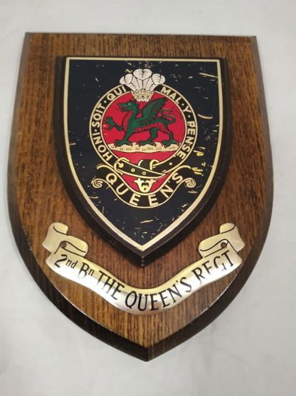 2nd Battalion The Queen's Regiment Mess Wall Plaque