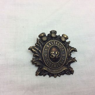 32nd Midlothian Volunteer Battalion metal badge