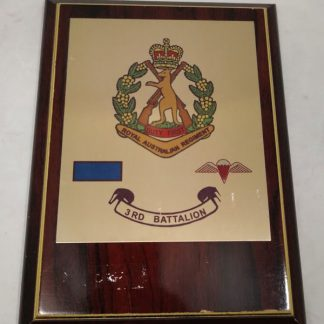 3rd Battalion Royal Australian Regiment Mess Wall Plaque