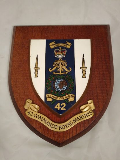 42 Commando Royal Marines Regimental Mess Wall Plaque