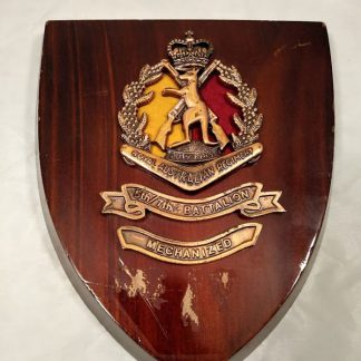 5th7th Battalion Mechanised Royal Australian Regiment Mess Wall Plaque