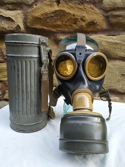 Afrika Corps Gas Mask 1941 dated