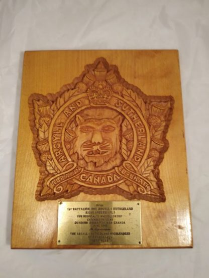 Argyll And Sutherland Highlanders Regimental Wall Mess Plaque