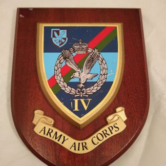 Army Air Corps IV Regimental Wall Mess Plaque