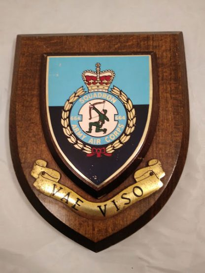 Army Air Corps 664 Squadron Regimental Mess Wall Plaque