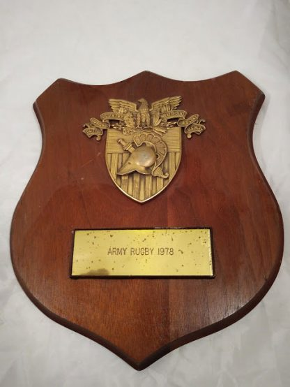 Army Rugby Shield Mess Wall Plaque