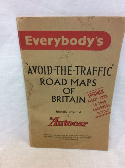 Autocar - everybody's 'avoid the traffic Road maps of Britian. 1956