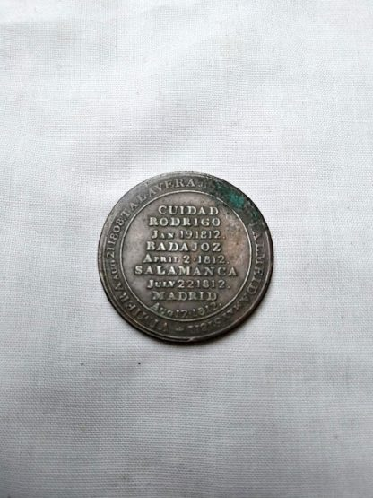 Battle Honour 12 penny token Wellington 1812