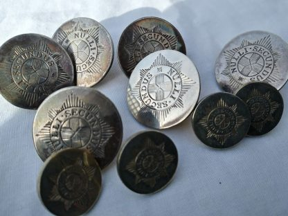 Coldstream Guards Buttons, Set of 10 Victorian Era