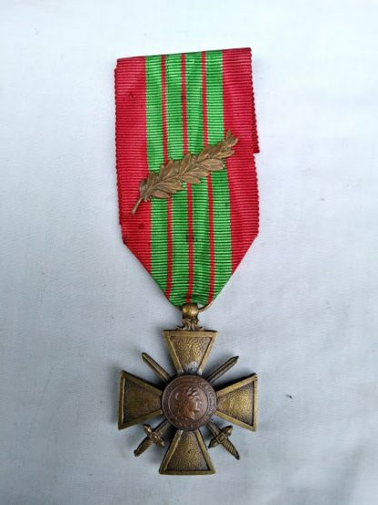 Croix De Guerre 1939 medal with Palm (mentioned in despatches)