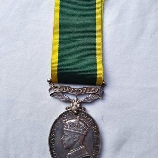 Efficiency medal with Territorial Bar - Gnr R BLACK Royal Artillery 892 492
