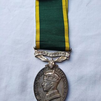 Efficiency medal with Territorial Bar - L.T. JD Watson Royal Signals