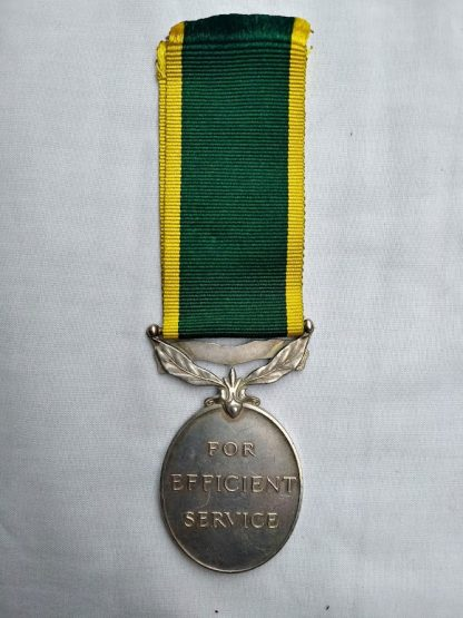 George VI Efficiency medal with Territorial Bar - BDR/Corporal VE Harker 325 288 Royal Artillery