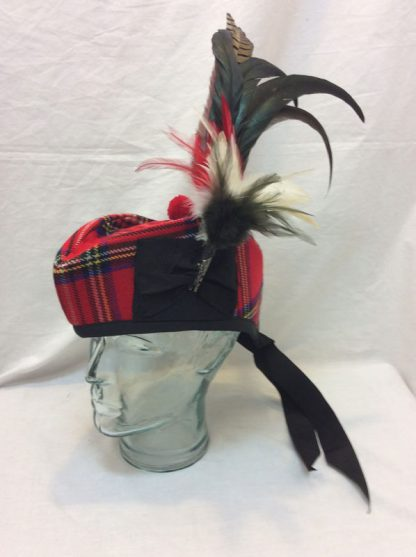 Glengarry Royal Stewart with Feather