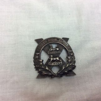Gordon highlanders metal cap badge